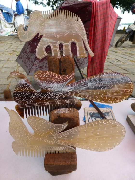 Lovely combs from Fort Cochin Markets...