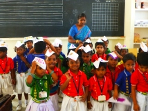 The children were all so proud of their hats...