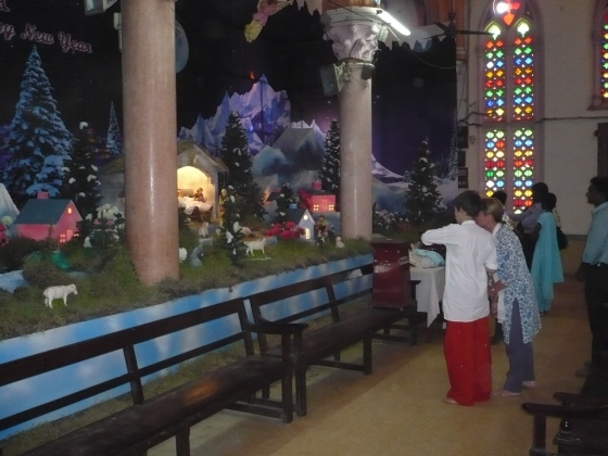 Christmas display in India...