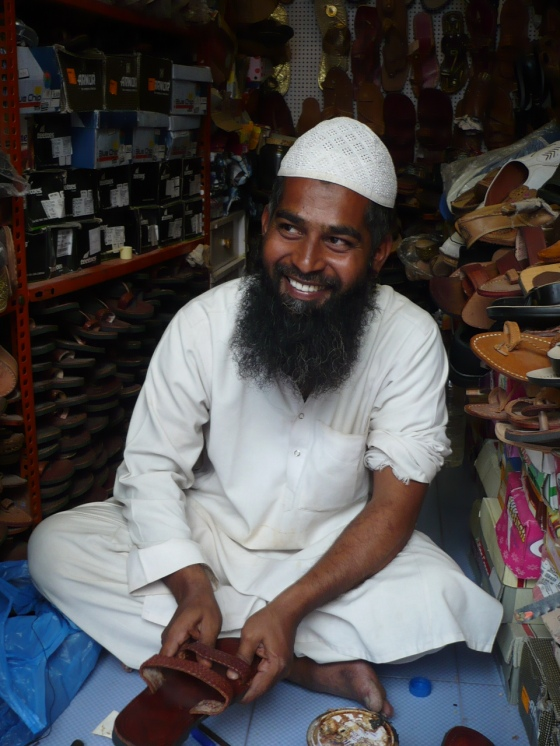 Puttaparthi shoe shop owner and cobbler...