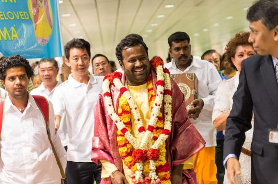 Amma recently visited Singapore...