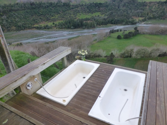 No better way to spend an afternoon than a bath for two with a view!