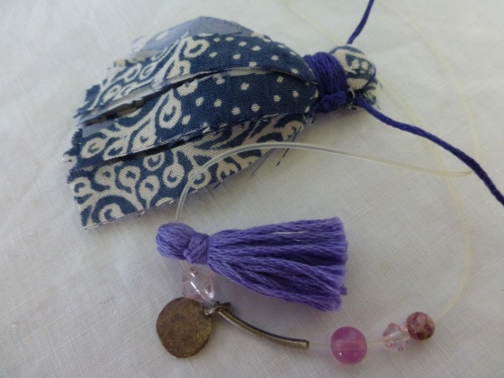 Some tassels I made yesterday...